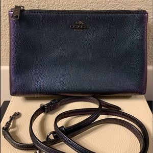 COACH LYLA HOLOGRAM PEBBLED LEATHER CROSSBODY